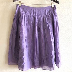 🛍Tea & Honey || Purple Lined Silk Skirt